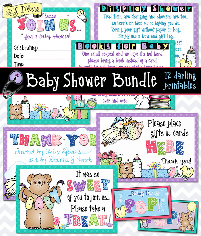 Baby Shower Bundles printables and activities