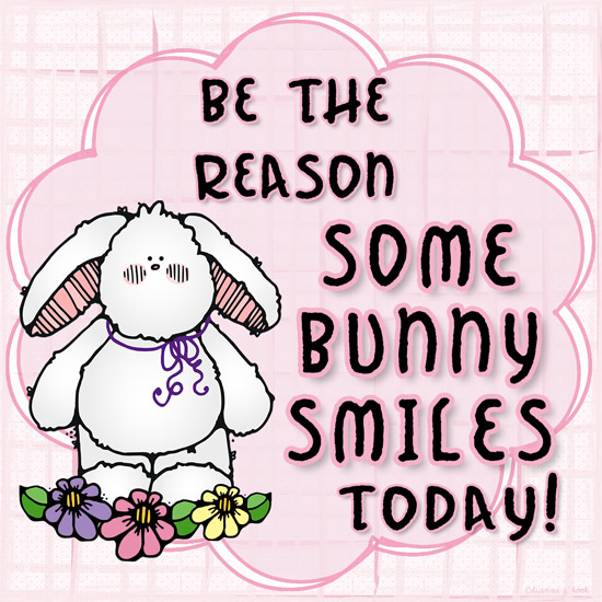 be the reason some bunny smiles