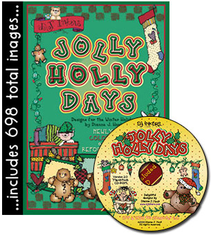 Jolly Holly Days Clip Art CD