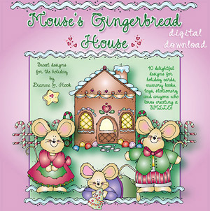 Mouse's Gingerbread House Clip Art Download