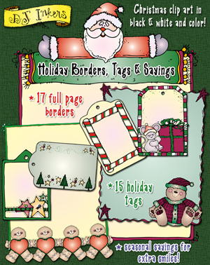 Holiday Borders, Tags and Sayings Clip Art Download