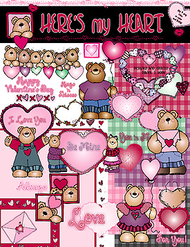 Here's My Heart Clip Art Download