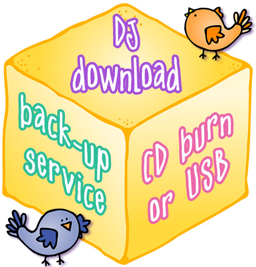 DJ Inker's download back-up service - CD burn or USB flash drive