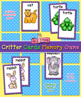 Critter Cards Memory Game Download