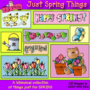 Just Spring Things Clip Art Download