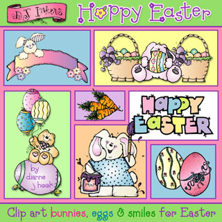 Hoppy Easter Clip Art Download