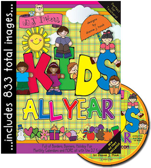 Kids All Year Clip Art CD