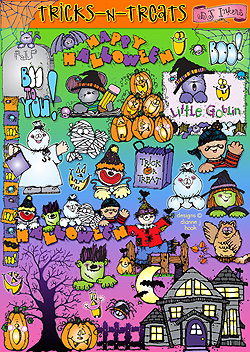 Tricks 'n Treats Clip Art Download