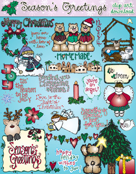 Season's Greetings Clip Art Download