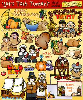 Let's Talk Turkey Clip Art Download