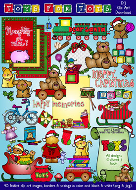Toys For Tots Christmas Clip Art Download