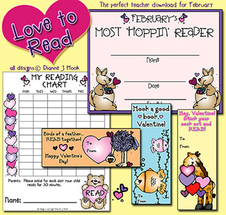 Love To Read Valentine Activity Download