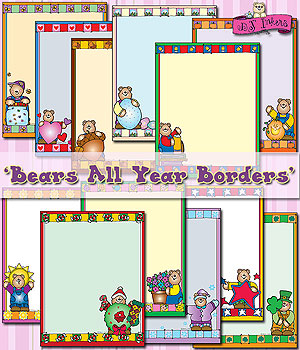 Bears All Year Borders Clip Art Download