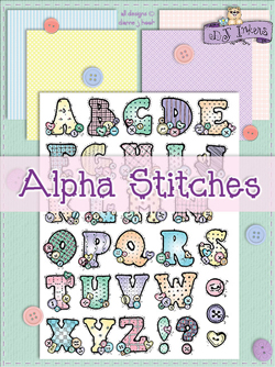 Alpha-Stitches Clip Art Download