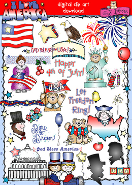 I Love America Clip Art Download