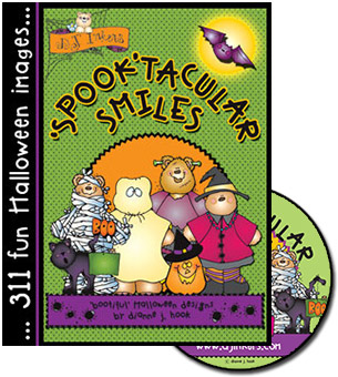 Spook-tacular Smiles Halloween Clip Art CD