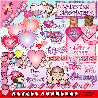February Dazzle Clip Art Download