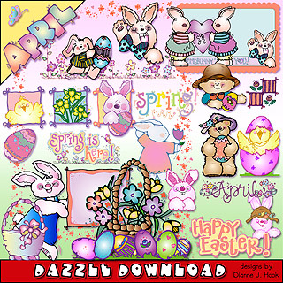 April Dazzle Clip Art Download