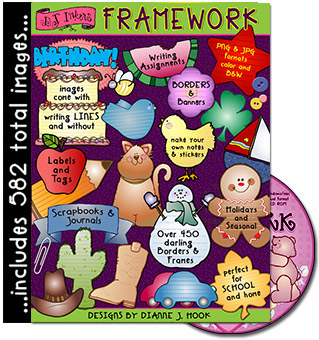 Framework, Borders and Templates Clip Art CD