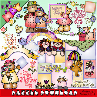May Dazzle Clip Art Download