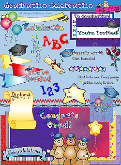 Graduation Celebration Clip Art and Printables Download