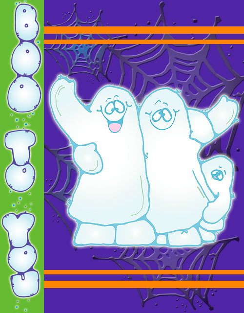 Spooky Halloween clip art for October by DJ Inkers