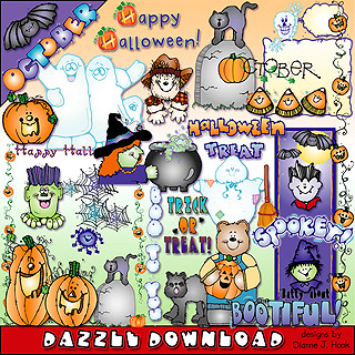 October Dazzle Clip Art Download