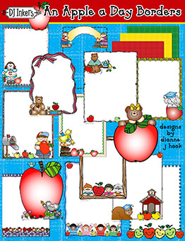 An Apple A Day Clip Art Borders Download