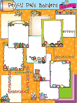Pencil Pals Clip Art Borders Download