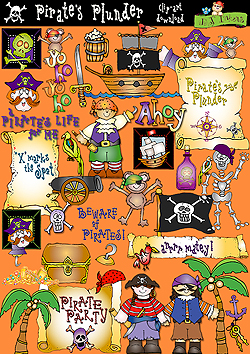 Pirate's Plunder Clip Art Download