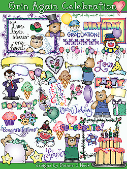 Grins and Celebrations Clip Art Download