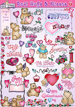 Bear Hugs and Kisses Clip Art Download