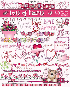 Lots Of Hearts Clip Art Download