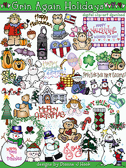 Grins for Any Holiday Clip Art Download
