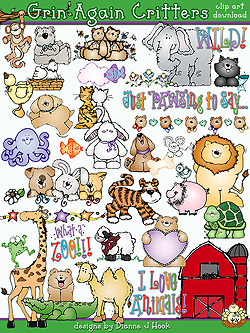 Grins and Critters Clip Art Download