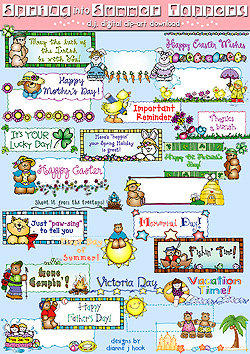 Spring Into Summer Toppers Clip Art Download