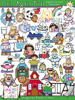 Grins and Kids Clip Art Download