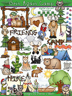 Grins for Camp Clip Art Download