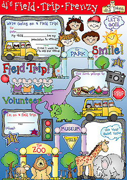 Field Trip Frenzy Clip Art and Printables Download