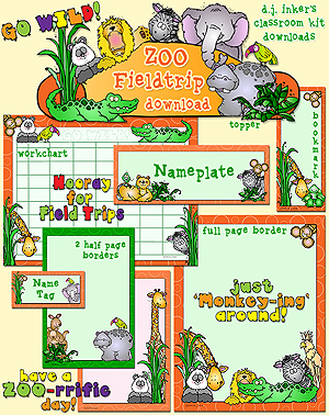 Zoo Field Trip Classroom Kit Download