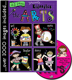 Kidoodlez The Arts Clip Art CD