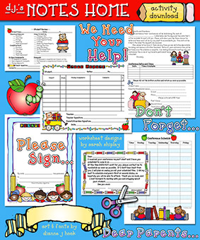 Notes Home Teacher Printables Download