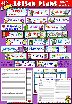 Lesson Plans and Schedule Cards - Teacher Printables Download