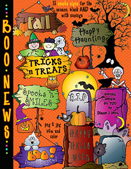 Boo News Clip Art Signs Download