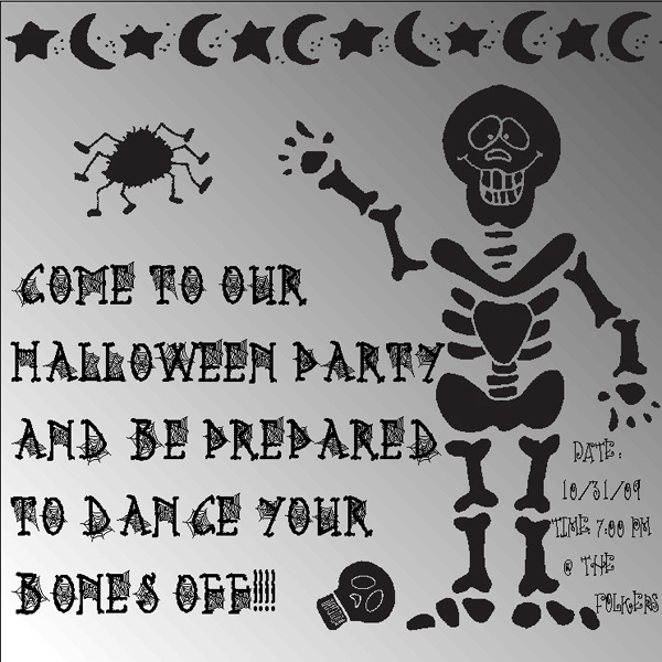 Spooky clip art silhouettes for Halloween by DJ Inkers