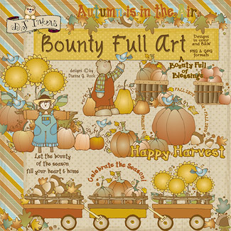 Bounty Full - Autumn Clip Art and Scrapbook Download