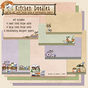 Kitchen Doodles Printable Recipe Cards