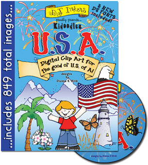 Kidoodlez USA Clip Art CD