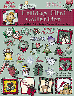 Holiday Mini Collection Clip Art Download