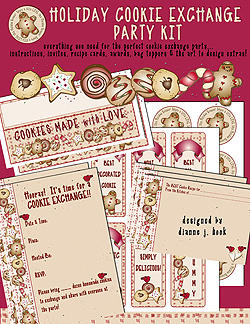 Holiday Cookie Exchange Party Printables Download